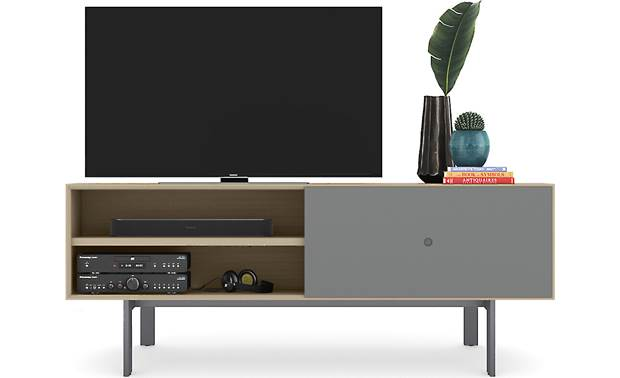 BDI Margo 5229 Drift Oak w/ Fog Gray Door - supports TVs up to 82