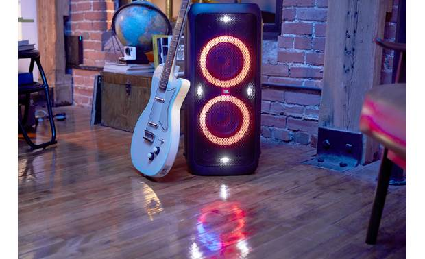 JBL PartyBox 300 Features an input for a guitar