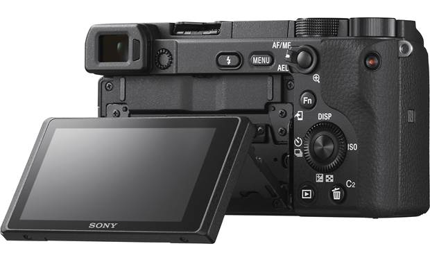 Sony Alpha a6400 Kit Shown with touchscreen tilted upward