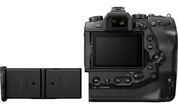 Olympus OM-D E-M1X (no lens included) Integrated vertical grip holds two batteries