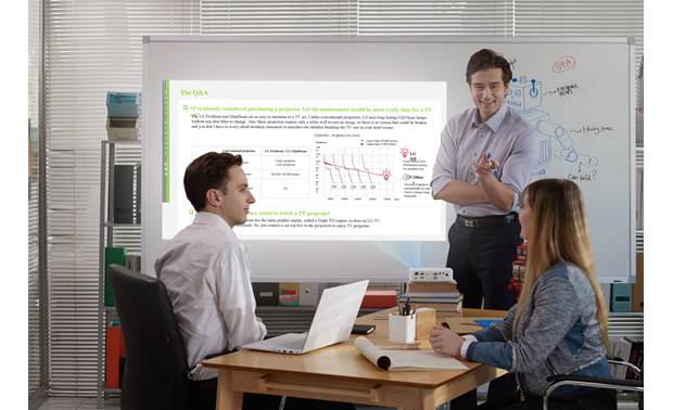 LG PF50KA Battery power and built-in Wi-Fi make this a great projector for business presentations