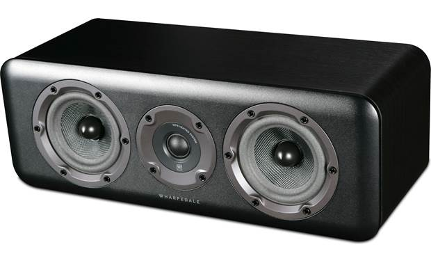 Wharfedale D300C Angled view with magnetic grilles removed