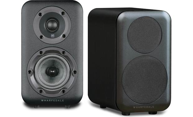 Wharfedale D310 One speaker shown with magnetic grilles removed