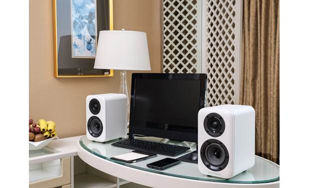 Wharfedale D310 Shown as part of a desktop stereo system