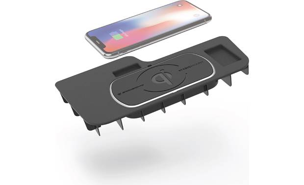 Scosche CRQ04 This Scosche wireless Qi charger fits in the center console location in your Dodge (phone not included)