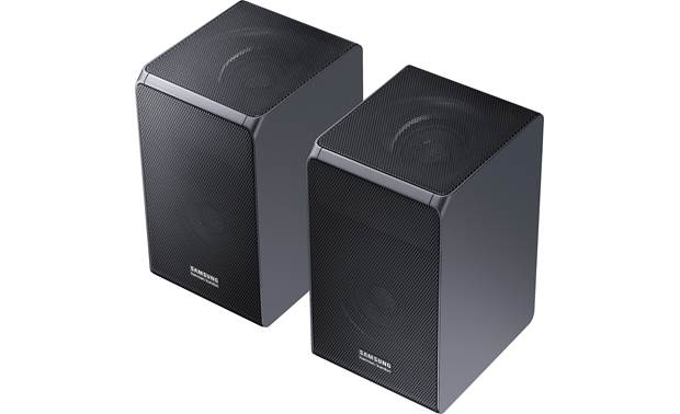 Samsung/Harman Kardon HW-Q90R Wireless rear speakers have front- and up-firing drivers for immersive home theater effects