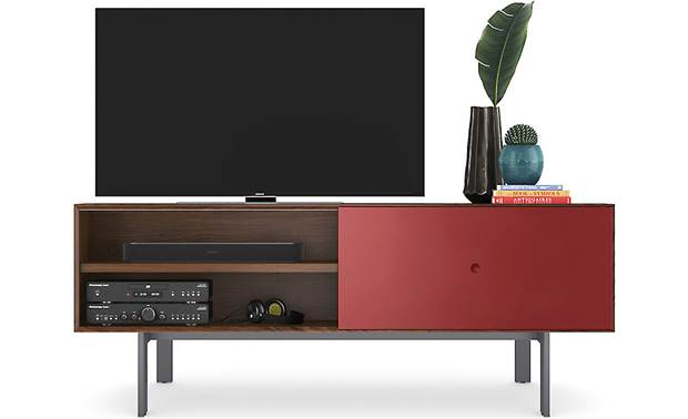 BDI Margo 5229 Toasted Walnut w/ Cayenne Door - supports TVs up to 82