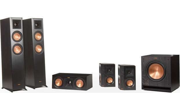 Klipsch RP-5000F 5.1 Home Theater Speaker System Shown without grilles