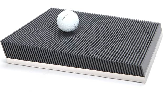 Bowers & Wilkins Formation Audio Compact, modern design (golf ball shown for scale)