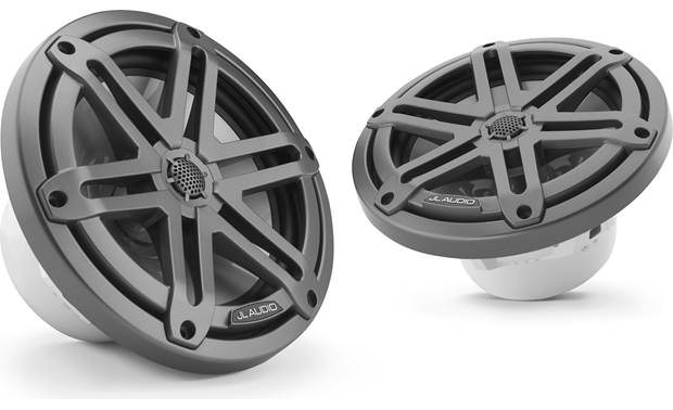 JL Audio M3-770X-S-Gm JL Audio builds the tweeter into this speaker's sport-style grille