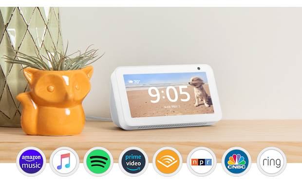 Amazon Echo Show 5 Sandstone - entertainement options
