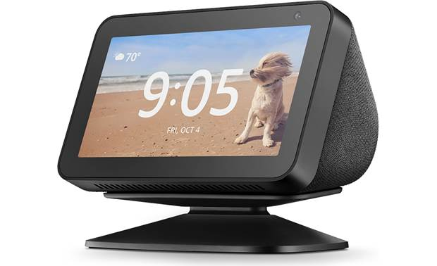 Amazon Echo Show 5 Stand Charcoal - left front (Amazon Echo 5 available separately)