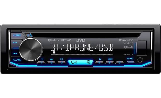 JVC KD-T700BT A simple layout gives you quick access to Bluetooth, Internet radio, and more