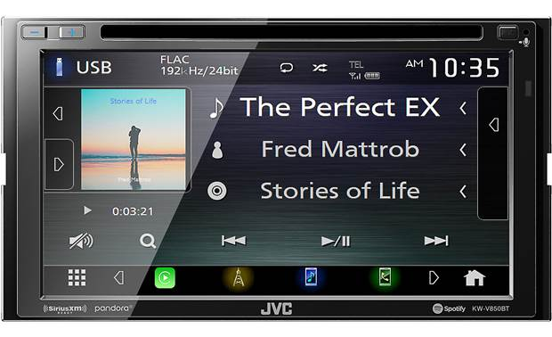 JVC KW-V850BT Enjoy sweet sound from streaming music or selections from your own high-res library