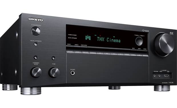 Onkyo TX-RZ740 (2019 model) Angled front view