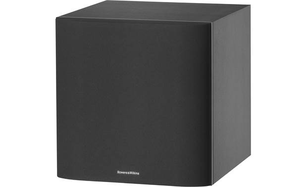 Bowers & Wilkins ASW608 Angled view with grille on