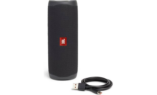 JBL Flip 5 Black Matte - with included USB charging cable