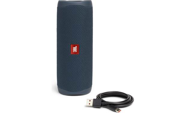 JBL Flip 5 Blue - with included USB charging cable