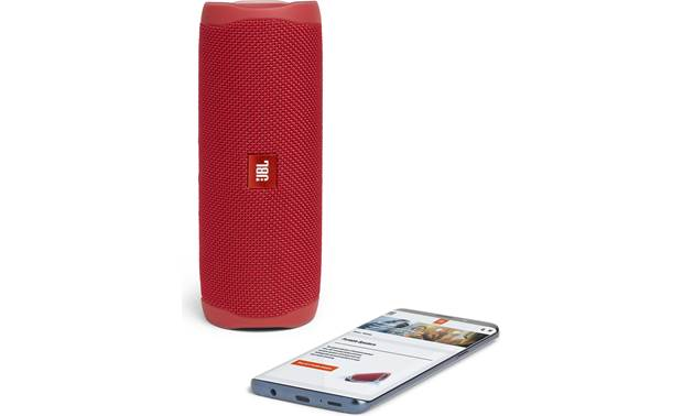 JBL Flip 5 Red - stream wirelessly via Bluetooth (smartphone not included)