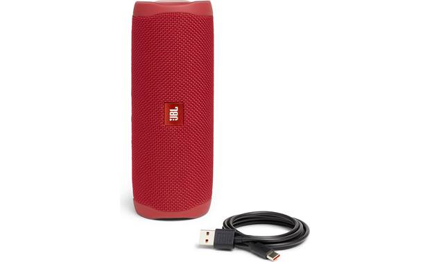 JBL Flip 5 Red - with included USB  charging cable