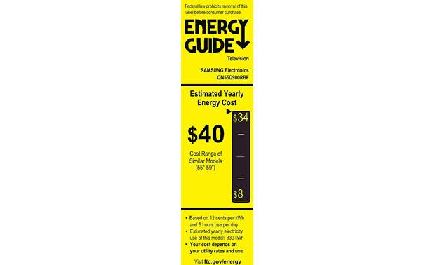 Samsung QN55Q900R Energy Guide
