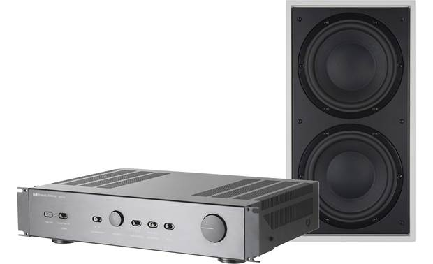 Bowers & Wilkins ISW4 and SA250 Mk2 Bass Package Subwoofer shown with grille removed