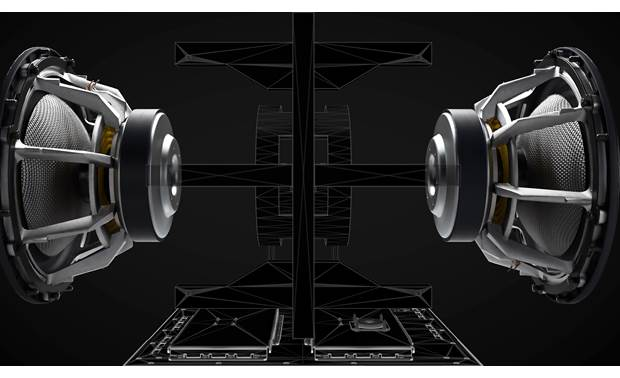 Bowers & Wilkins DB3D Opposite-firing woofers create balanced, powerful bass