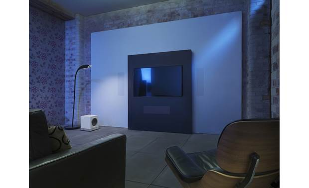 Bowers & Wilkins DB3D Shown as part of a home theater system