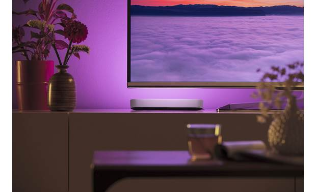Philips Hue Play White and Color Ambiance Light Bar Place it flat on a TV stand
