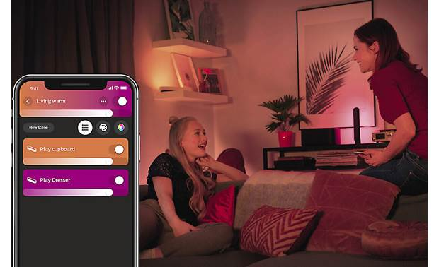 Philips Hue White and Color Ambiance Play Light Bar Extension Easy to control with the Hue mobile app