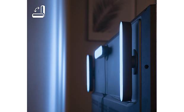 Philips Hue White and Color Ambiance Play Light Bar Extension Can be mounted vertically or horizontally behind your TV