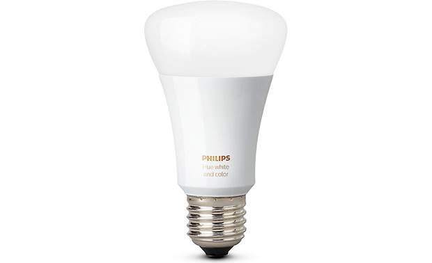 Philips Hue White and Color Ambiance A19/E26 Bulb Front