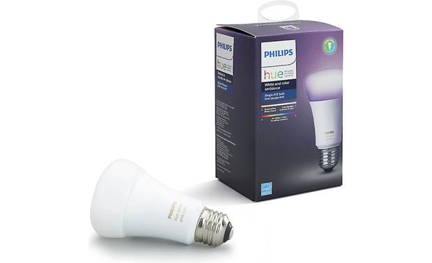 Philips Hue White and Color Ambiance A19/E26 Bulb Add voice control with Apple HomeKit, Amazon Alexa, and Google Home devices (sold separately)