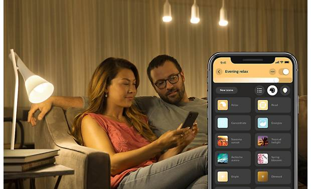 Philips Hue White and Color Ambiance A19/E26 Bulb You can also choose from a variety of presets