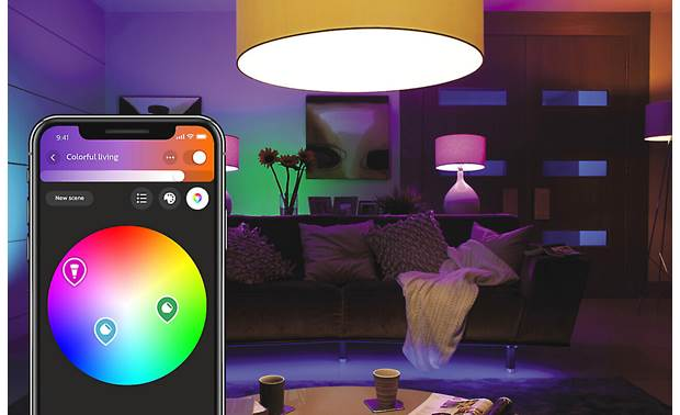 Philips Hue White and Color Ambiance A19/E26 Bulb The mobile app makes it easy to select any shade of white or color light you want
