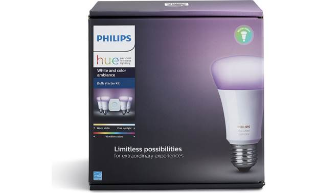 Philips Hue White and Color Ambiance Starter Kit Add voice control with Apple HomeKit, Amazon Alexa, and Google Home devices (sold separately)