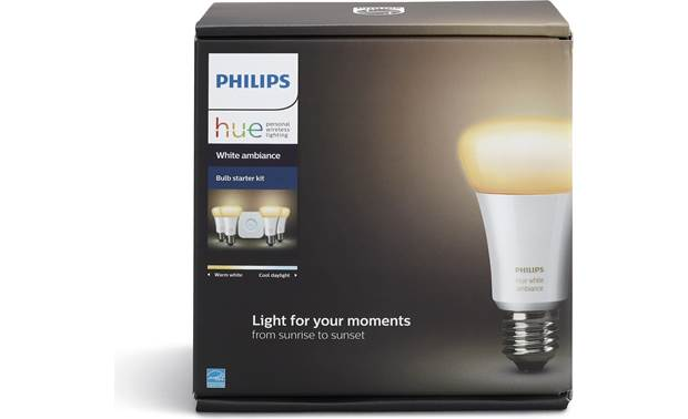 Philips Hue White Ambiance Starter Kit Standard A19/E26 bulbs fit most common light fixtures