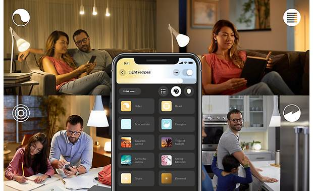 Philips Hue White Ambiance Starter Kit White light presets include relax, read, concentrate, and energize