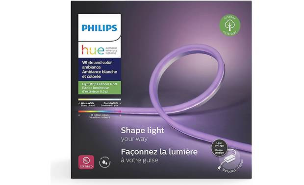 Philips Hue White and Color Ambiance Lightstrip Outdoor Weatherproof for outdoor use (IP67-rated)