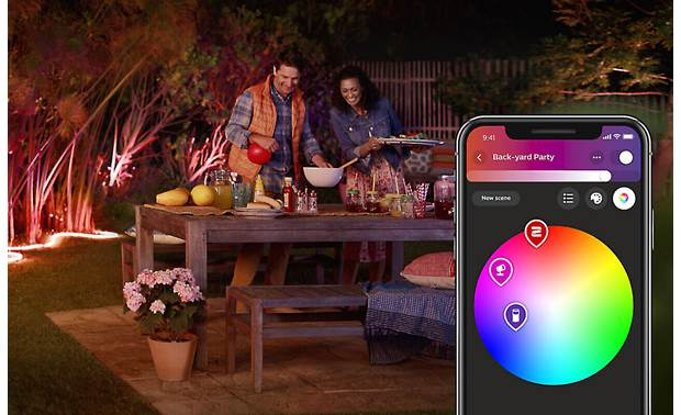 Philips Hue White and Color Ambiance Lightstrip Outdoor Set the mood with your choice of 16 million colors