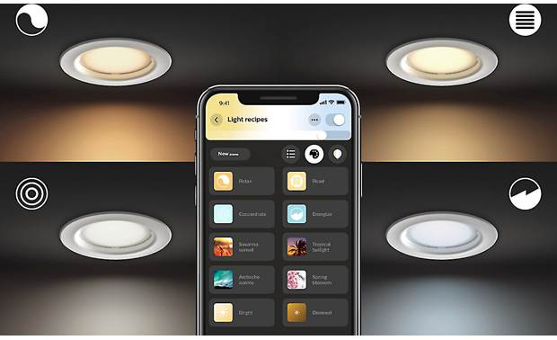 Philips Hue White Ambiance Downlight Choose from different light