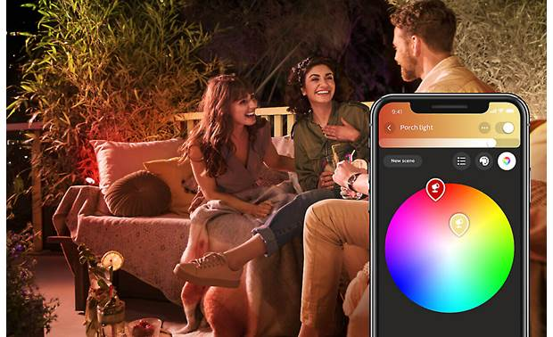 Philips Hue Lily White and Color Ambiance Outdoor Spotlights (3-pack) Choose from 16 million colors using the Hue app