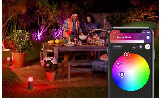 Philips Hue Calla White and Color Ambiance Outdoor Extension Light Create lighting scenes using the Hue app