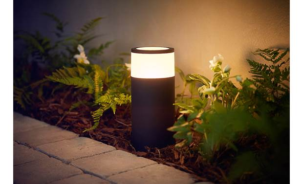 Philips Hue Calla White and Color Ambiance Outdoor Light (Base Unit) Illuminate garden pathways with customizable shades of white or color light