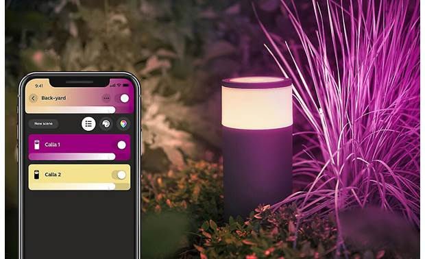 Philips Hue Calla White and Color Ambiance Outdoor Light (Base Unit) Control all your Hue lights from the app