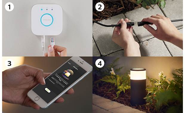Philips Hue Calla White and Color Ambiance Outdoor Light (Base Unit) Requires Philips Hue Bridge for setup with the Hue mobile app