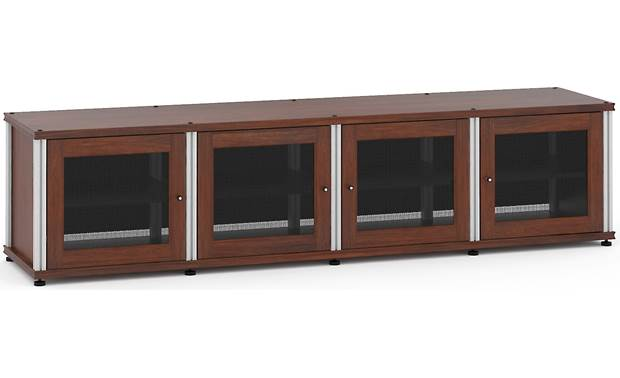 Salamander Designs Synergy System Model 247 Walnut with satin aluminum posts