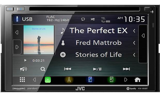 JVC KW-V85BT Enjoy sweet sound from streaming music or selections from your own high-res library