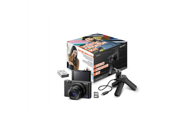 Sony RX100 III Video Creator Kit Shown with box and included accessories