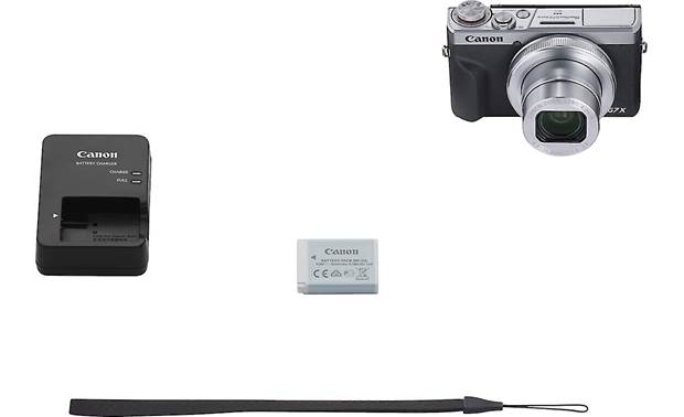 Canon PowerShot G7 X Mark III Shown with included accessories